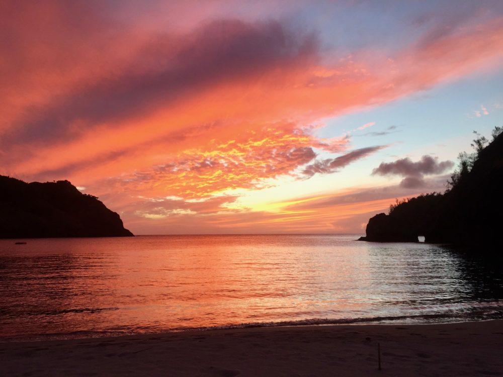 小港の夕日