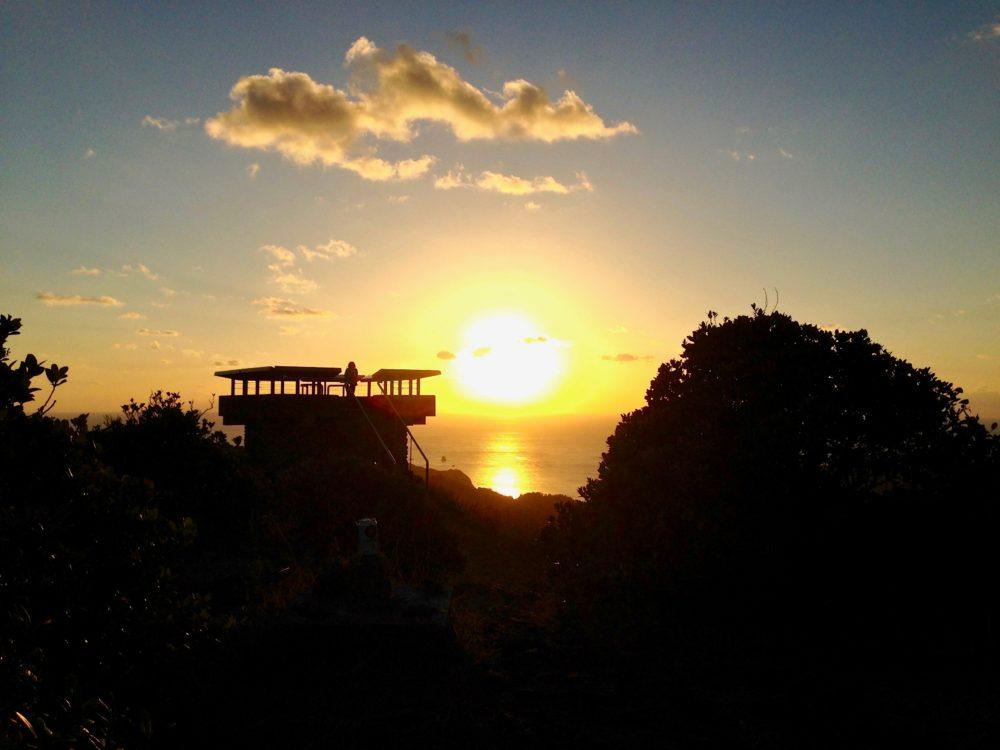 中央山からの夕日