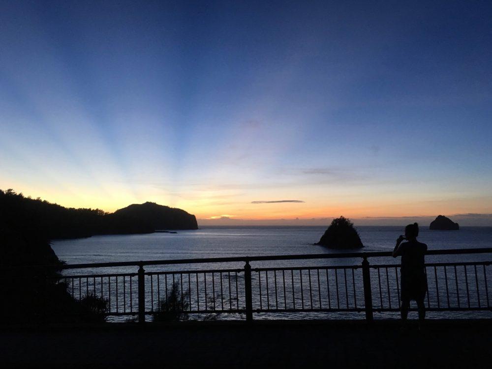 扇浦からの夕日