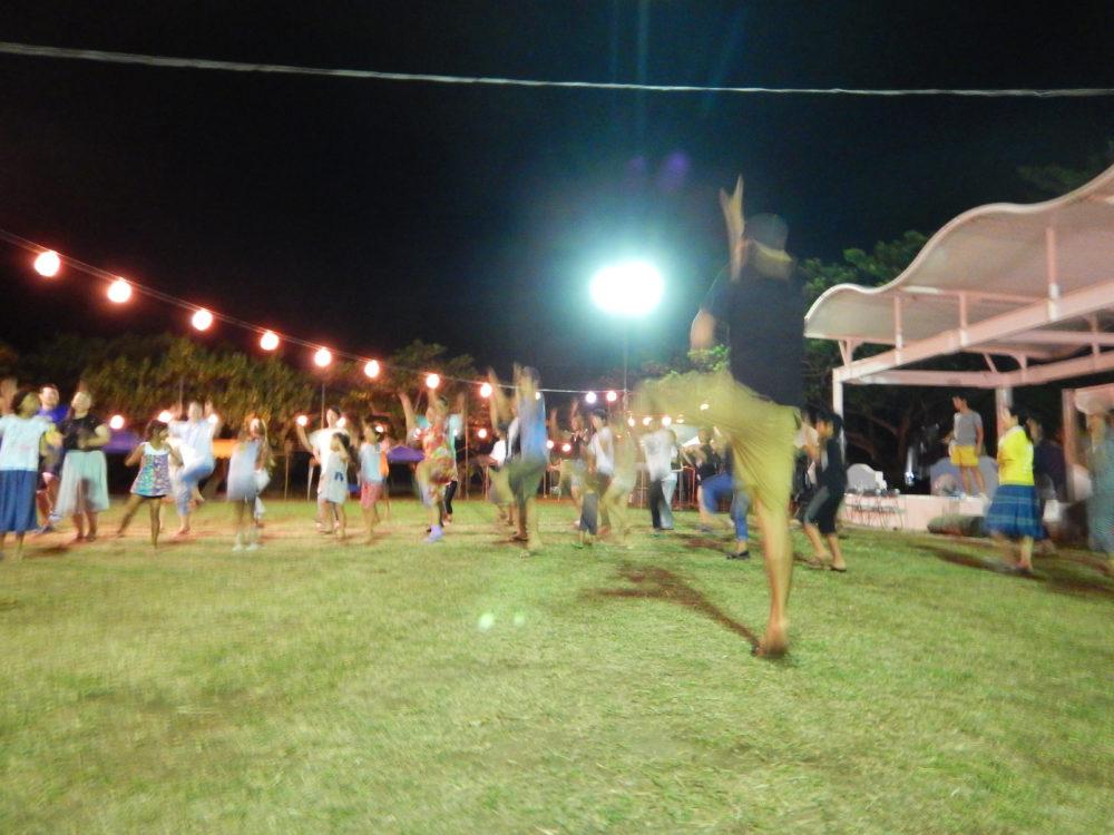 盆踊り練習大会の様子